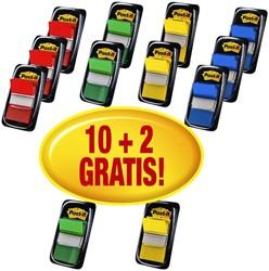 Indextabs 3M Post-it 680 assorti 10+2 gratis