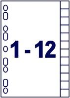 Tabbladen Avery Readyindex 9-gaats 12-delig 1-12 assorti-2
