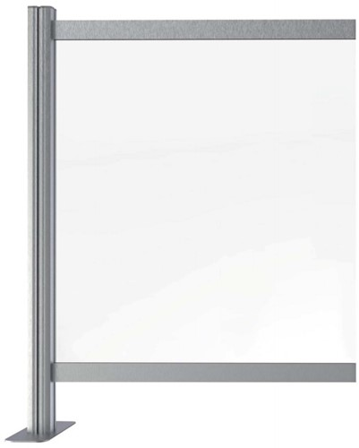 Hygienescherm/veiligheidsscherm aluminium uitbreiding t.b.v. 95x90cm