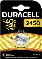 Batterij Duracell knoopcel CR2450 lithium Ø24mm 3V-540mAh