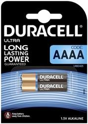 Batterij Duracell Ultra 2xAAAA alkaline