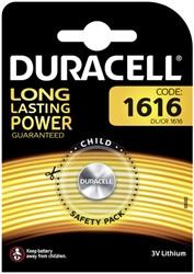 Batterij Duracell knoopcel CR1616 lithium Ø16mm 3V-50mAh