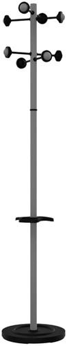 Kapstok staand Unilux Accueil metallic grijs
