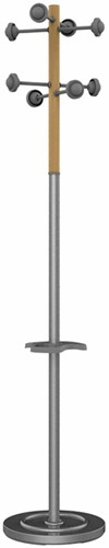 Kapstok staand Unilux Accueil grijs/beuken