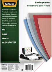 Voorblad Fellowes A4 PVC 300micron 100stuks
