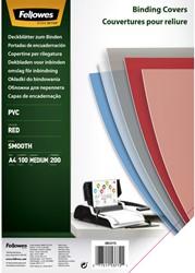 Voorblad Fellowes A4 PVC 200micron rood 100stuks