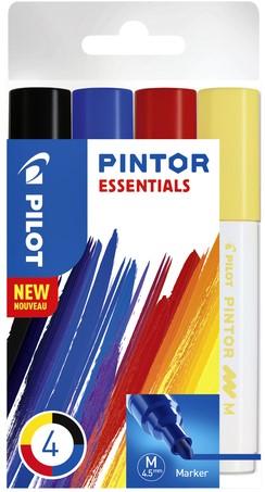 Viltstift Pilot Pintor essentials 1,4mm etui à 4 stuks ass