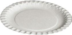 Bord biologisch afbreekbaar karton 180mm wit 100 stuks