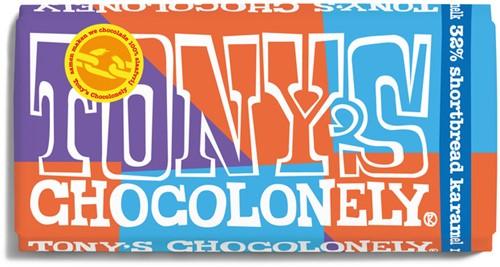 Chocolade Tony's Chocolonely melk 32% shortbread 180gr