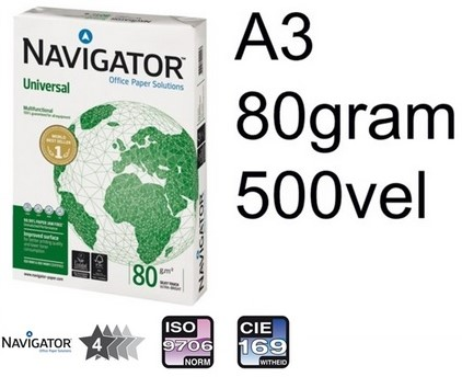 Kopieerpapier Navigator Universal A3 80gr wit 500 VEL