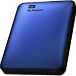 "HARDDISK WESTERN DIGITAL MY PASSPORT 500GB 2,5"" BLAUW 1 STUK"