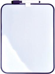 Whiteboard Desq 21.5x28cm + marker paars profiel