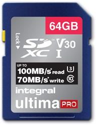 Geheugenkaart Integral SDXC V30 64GB