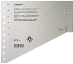 Scheidingsbladen Leitz 1651 A4 karton 200gr 11-gaats grijs