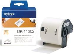 Etiket Brother DK-11202 62x100mm verzendlabel 300stuks