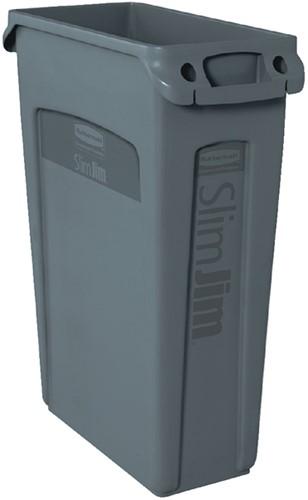 Afvalcontainer Slim Jim grijs 87liter