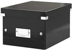 Kleine archiefdoos Leitz Click & Store 200x148x250mm zwart
