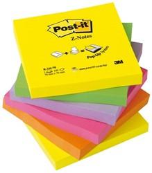 Memoblok 3M Post-it Z-Note R330 76x76mm neon rainbow 6 stuks