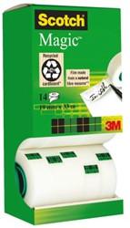 Onzichtbaar plakband Scotch Magic 810 19mmx33m 12+2 gratis