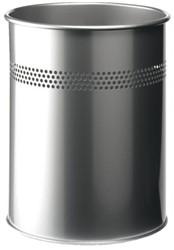 Papierbak Durable 3300-23 15liter 30mm perforatie zilver