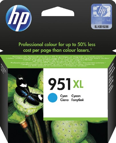 Inktcartridge HP CN046AE 951XL blauw HC