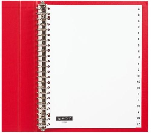 Tabbladen Quantore 23-gaats 20-delig met alfabet wit PP