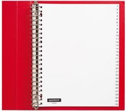 Tabbladen Quantore 23-gaats 1-31 genummerd wit PP