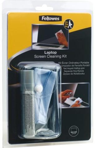 Reiniger Fellowes laptop cleaningset flacon en doekje