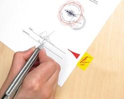 Indextabs 3M Post-it 68031 handtekening plaatsen