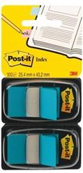 Indextabs 3M Post-it 6802BLU 2 stuks blauw