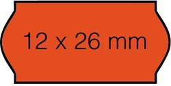 Prijsetiket 12x26mm Sato Samark permanent fluor rood