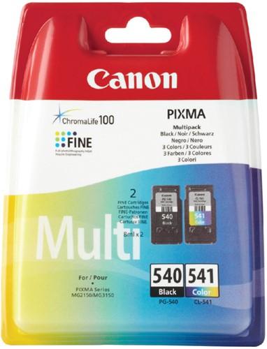 Inktcartridge Canon PG-540 +  CL-541 zwart + kleur