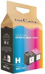 Inkcartridge Wecare HP 300XL zwart + kleur HC