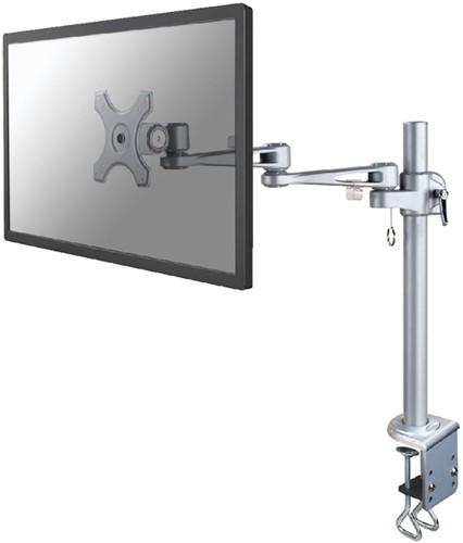 """Monitorarm Neomounts D935 10-30"""" met klem zilvergrijs"""