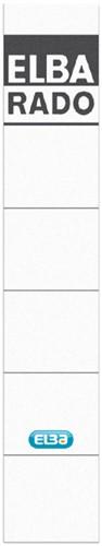 Rugetiket Elba smal 34x190mm zelfklevend wit/grijs
