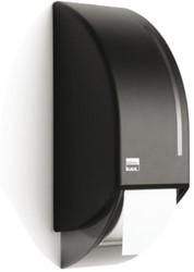 Dispenser Satino Black voor systeemrol toiletpapier
