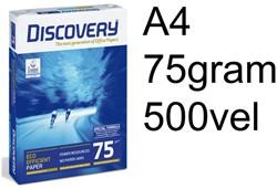 Kopieerpapier Discovery A4 75gr wit 500vel 500 VEL