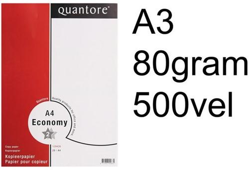 Kopieerpapier Quantore Economy A3 80gr wit 500 VEL