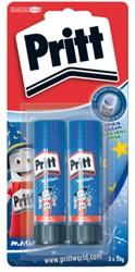 Lijmstift Pritt Magic 20gr blauw 2 stuks op blister