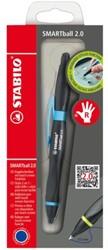 Balpen Stabilo Smartball rechts zwart/blauw 0.5mm blister