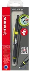 Balpen Stabilo Smartball rechts zwart/kiwi 0.5mm