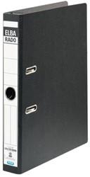 Hangordner Elba rado 45mm karton zwart gewolkt
