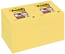 Memoblok 3M Post-it 622-SSY Super Sticky 51x51mm geel