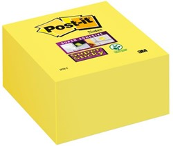 Memoblok 3M Post-it 2028S kubus Super Sticky ultra geel 350v