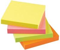 Memoblaadjes Quantore 75x75mm neon kleuren assorti-1