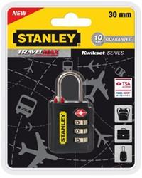 Reisslot Stanley 3 cijferige code 30mm