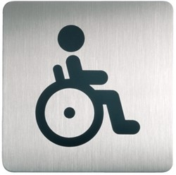 Infobord pictogram Durable 4959 vierkant wc inval 150mm
