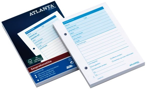 Gespreksnotitieblok Atlanta  A6 100vel