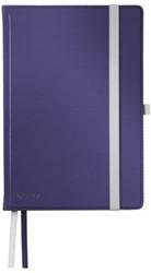 Notitieboek Leitz Style harde kaft A5 lijn titaniumblauw