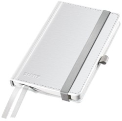 Notitieboek Leitz Style harde kaft A6 gelinieerd poolwit